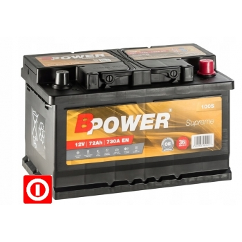 AKUMULATOR  BPOWER 72 Ah 730A P+