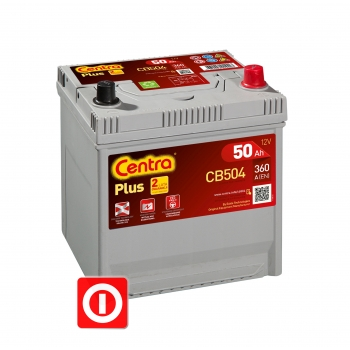 Akumulator Centra Plus 50Ah 360A