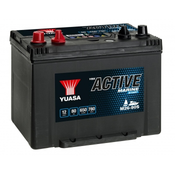 AKUMULATOR YUASA ACTIVE MARINE START 80 Ah DO ŁODZI